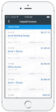 Legal Time And Billing Software For Lawyers Law Office IOS Mobile App - How to make an invoice on iphone