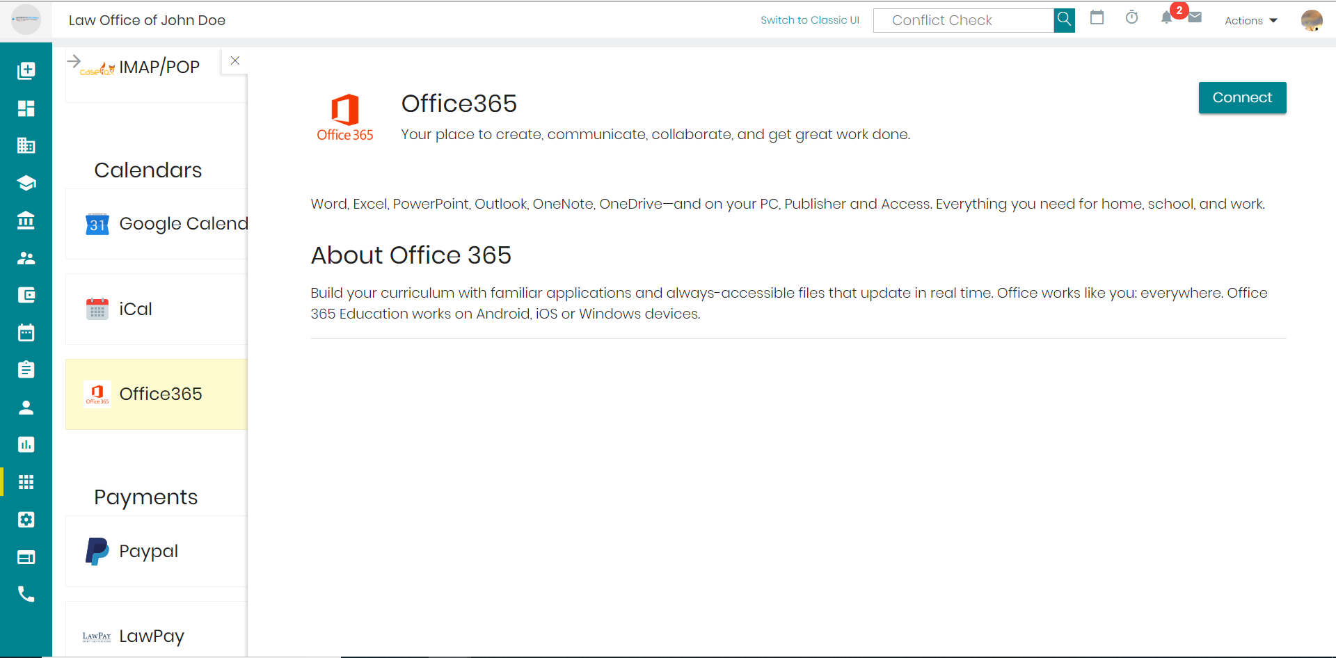 CaseFox Integration With Office 365