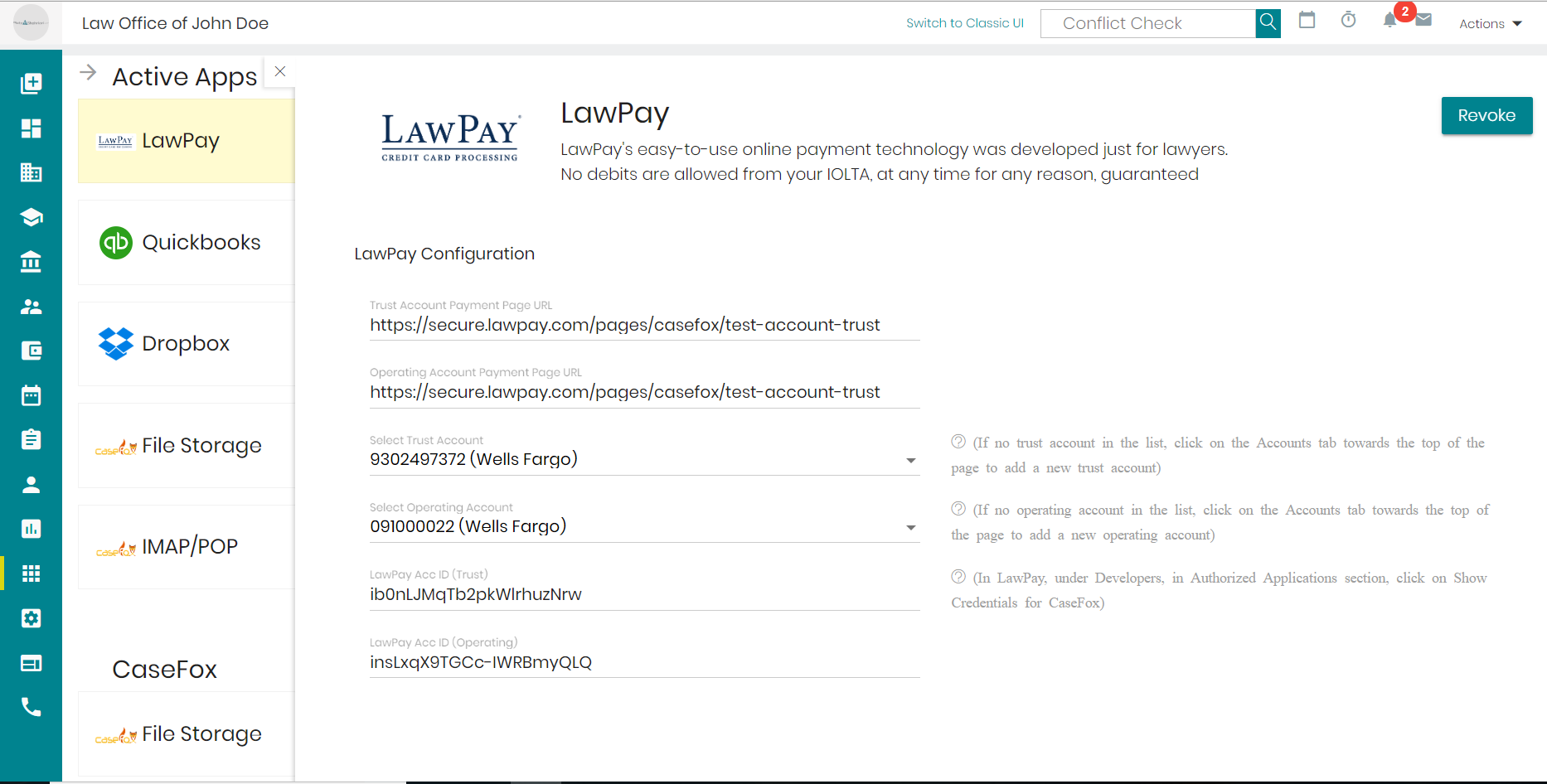 LawPay Integration in Legal billing software
