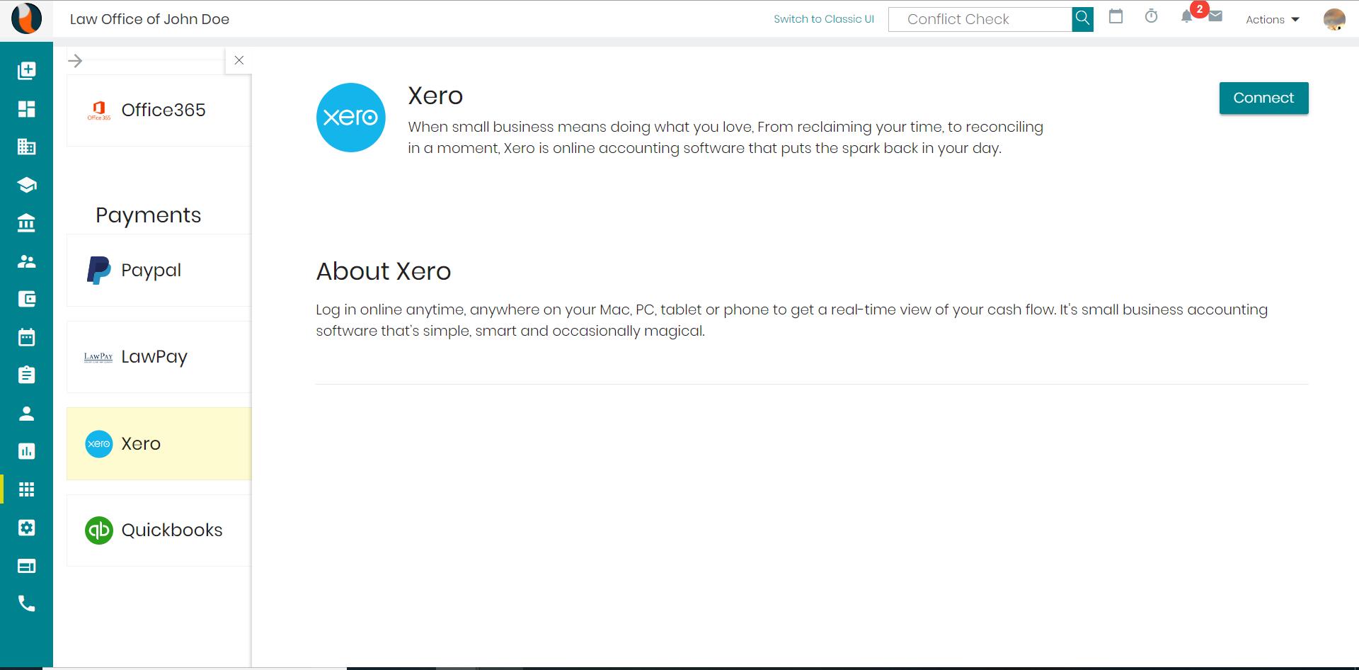 CaseFox Xero-Payment integration